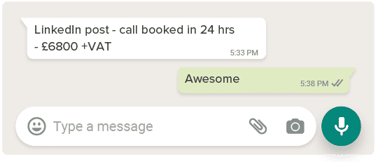 whatsapp 1 revenue sprints
